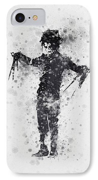 Edward Scissorhands 01 IPhone 7 Case by Aged Pixel