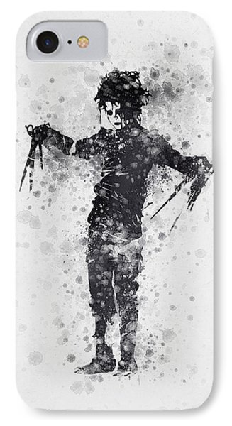 Edward Scissorhands 01 IPhone Case by Aged Pixel