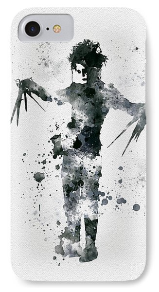 Edward Scissorhands IPhone Case by Rebecca Jenkins