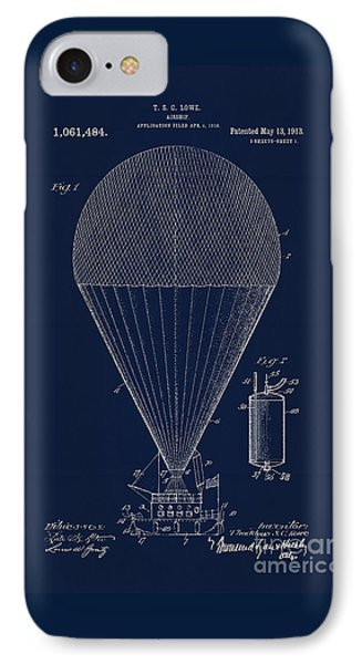 Edwardian Age Airship Blueprint Patent Drawing, Steampunk IPhone Case