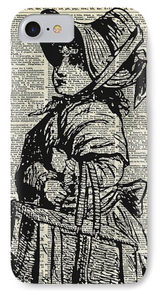 Edwardian Girl With Basket IPhone Case by Jacob Kuch