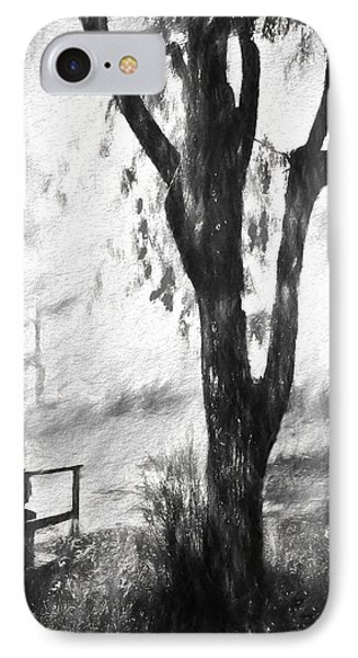 Tree In The Mist IPhone Case by Rena Trepanier