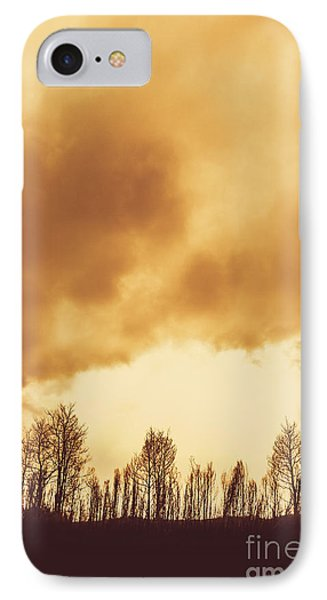 Eerie Fields In Silhouette IPhone Case by Jorgo Photography - Wall Art Gallery
