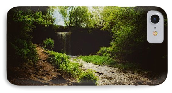 IPhone Case featuring the photograph Eerie Path At Wequiock Falls by Mark David Zahn