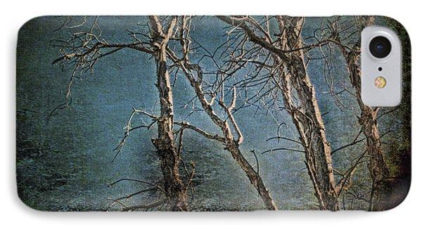 Eerie Trees IPhone Case by Edelberto Cabrera