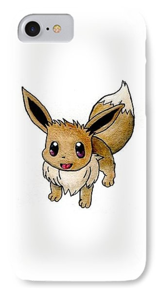 Eevee IPhone Case by Kacey Thorn