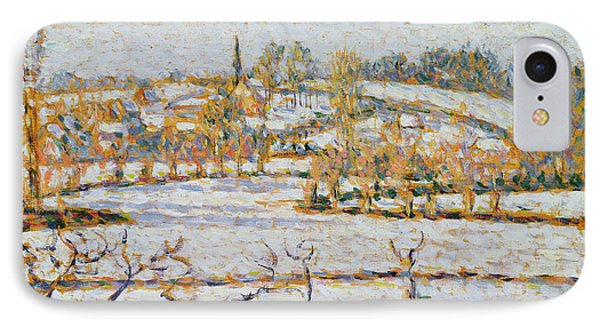 Effect Of Snow At Eragny Phone Case by Camille Pissarro