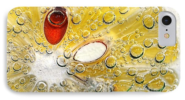 Effervescent Lemon Abstract IPhone Case by Kaye Menner