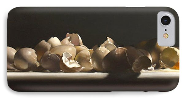 Egg With Shells No.3 IPhone Case by Larry Preston