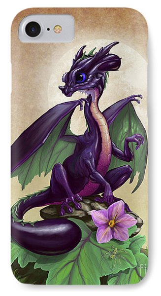 Eggplant Dragon IPhone Case by Stanley Morrison