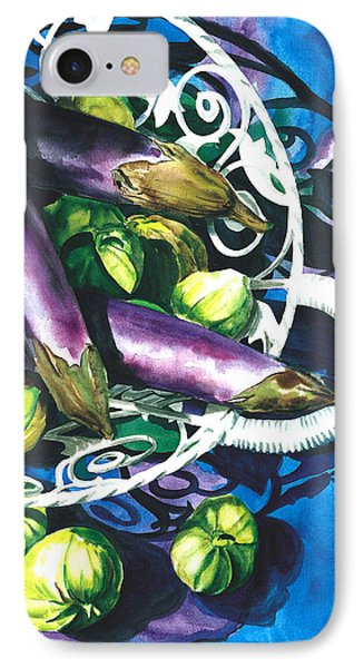 Eggplants Phone Case by Nadi Spencer
