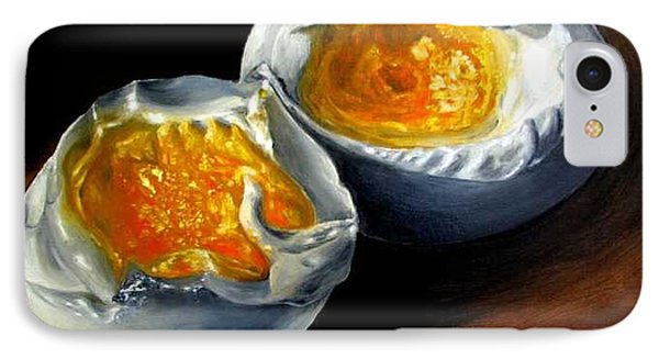 Eggs Contemporary Oil Painting On Canvas  Phone Case by Natalja Picugina