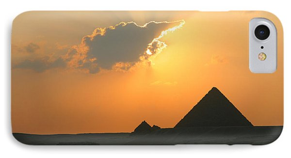 Egpytian Sunset Behind Cloud IPhone Case