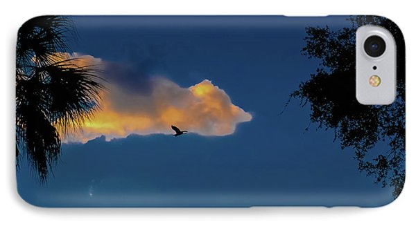 Egressing Egret Phone Case by DigiArt Diaries by Vicky B Fuller
