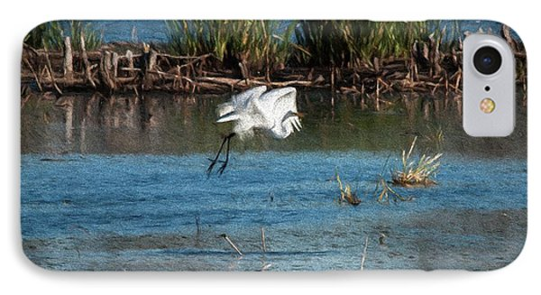 Egret 1 IPhone Case by Travis Burgess