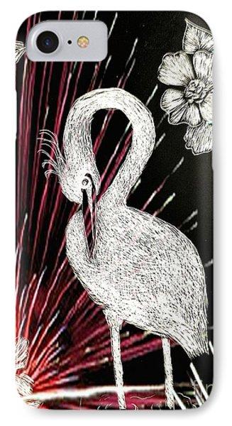 Egret 16-02d IPhone Case by Maria Urso