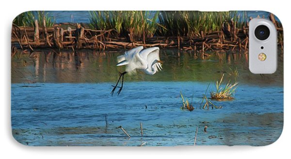 Egret 3 IPhone Case by Travis Burgess