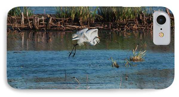 Egret 4 IPhone Case by Travis Burgess