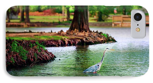 Heron At Honor Heights IPhone Case by Tamyra Ayles