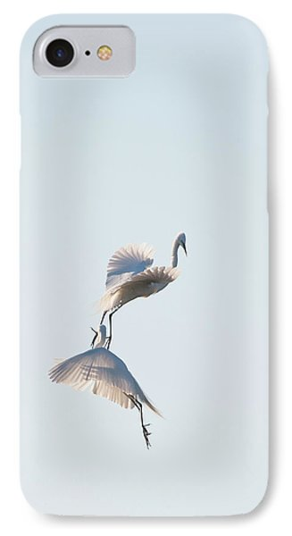 Egret Dance 2 IPhone Case by Catherine Lau