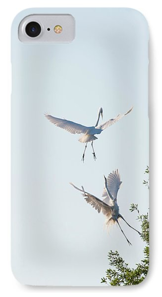 Egret Dance IPhone Case by Catherine Lau