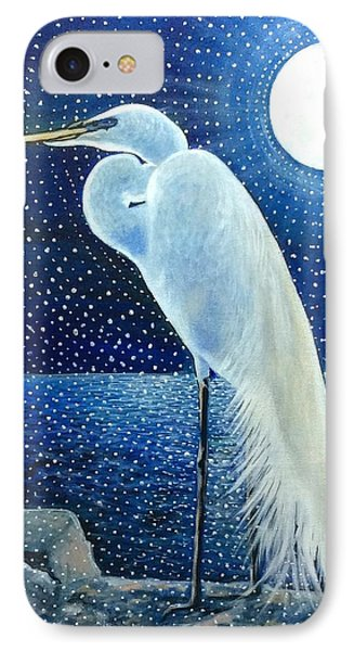 Egret Energy IPhone Case by Judi Cain