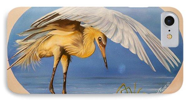 Egret Fishing IPhone Case