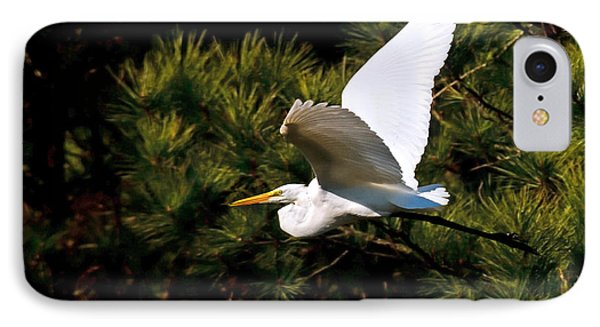 Egret In Flight 1 IPhone Case