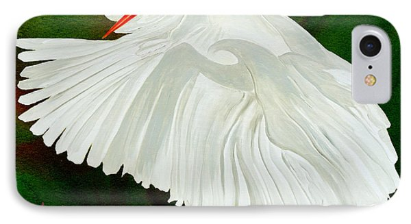 Egret In Flight IPhone Case by Anne Beverley-Stamps