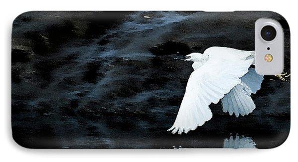 Egret In Flight IPhone Case by Brian Roscorla