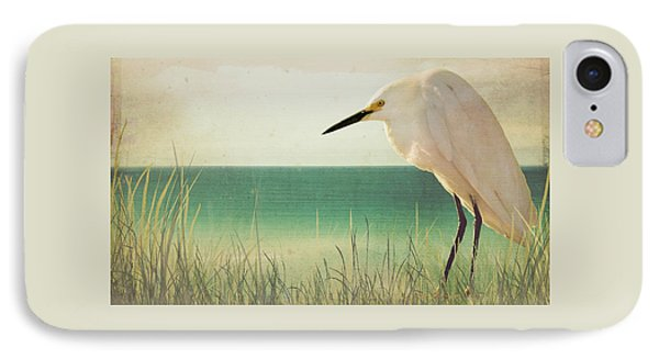 Egret In Morning Light IPhone Case by Christina Lihani