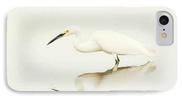Egret In Vanilla Tones IPhone Case by Ruth Jolly