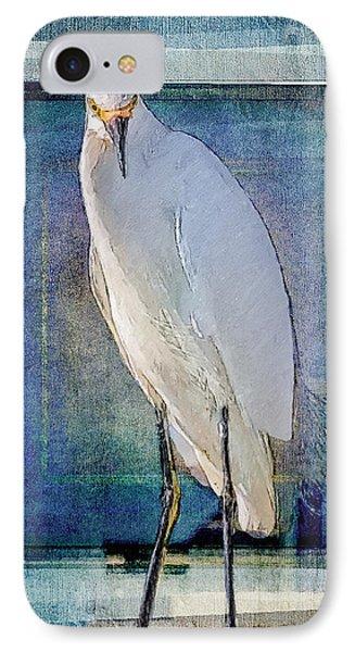 Egret Portrait IPhone Case