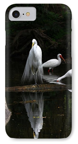 Egret Reflection IPhone Case