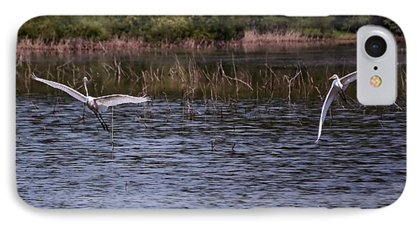 Egrets IIi Phone Case by Gary Adkins