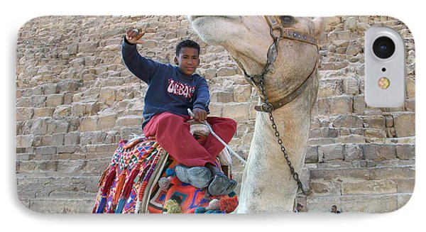 Egypt - Boy With A Camel Phone Case by Munir Alawi