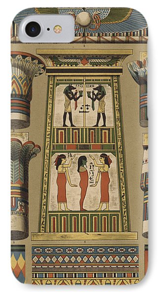 Egyptian, Architecture And Painting IPhone Case by Egyptian School