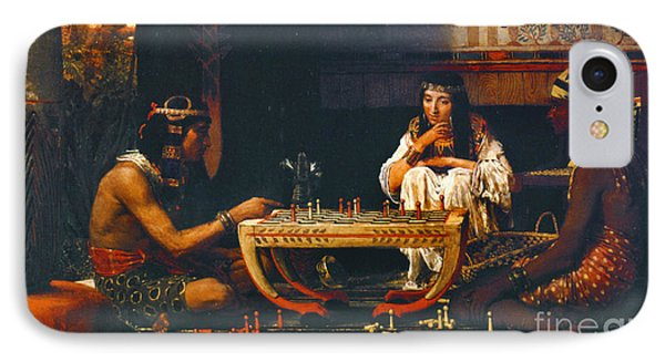 Egyptian Chess Players 1865 IPhone Case by Padre Art