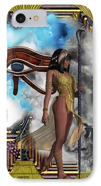Egyptian Echoes Of Time IPhone Case by Corey Ford