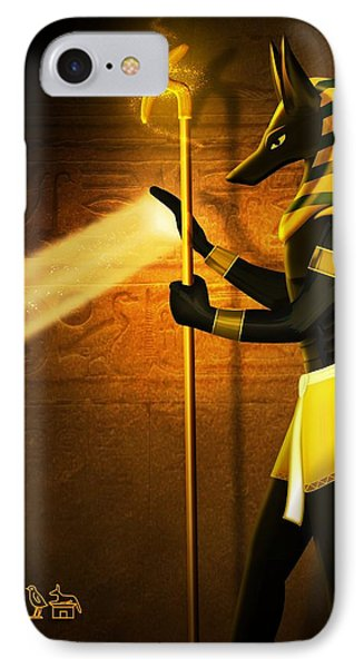 Egyptian God Anubis IPhone Case by John Wills
