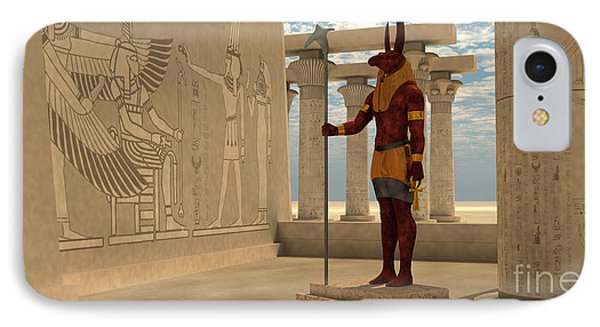 Egyptian God Seth IPhone Case by Corey Ford