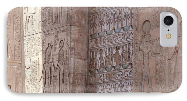 IPhone Case featuring the photograph Egyptian Hieroglyphs by Silvia Bruno