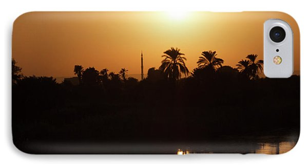 IPhone Case featuring the photograph Egyptian Sunset by Silvia Bruno