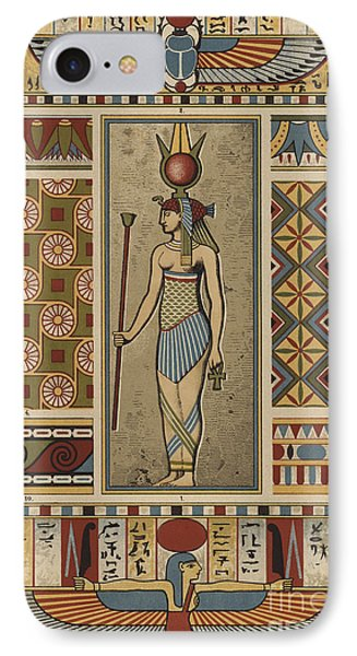 Egyptian Textile Patterns IPhone Case by Egyptian School