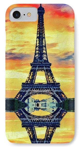 Eifel Tower In Paris Phone Case by PixBreak Art