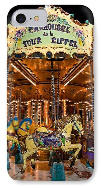 Eiffel Carrousel IPhone Case by Harry Spitz