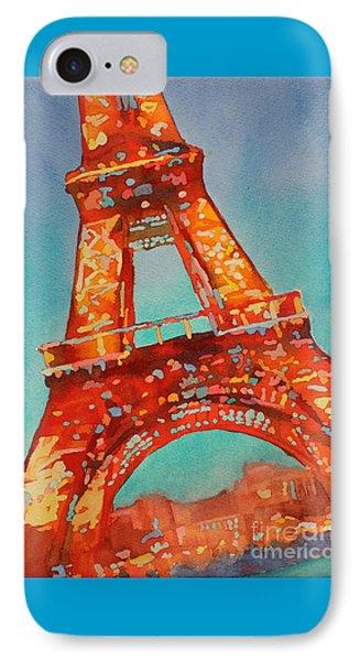 Eiffel Night- Paris IPhone Case by Ryan Fox