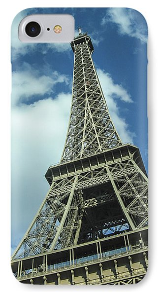 IPhone Case featuring the photograph Eiffel Tower by Allen Sheffield