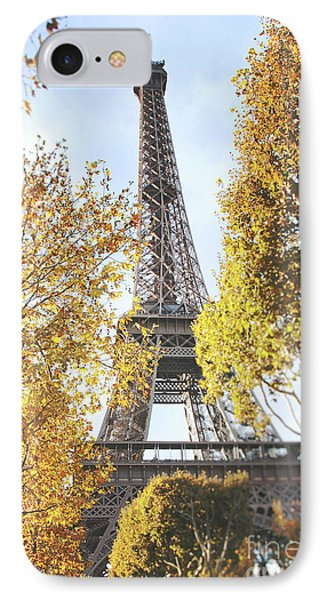 IPhone Case featuring the photograph Eiffel Tower Amidst The Autumn Foliage by Ivy Ho
