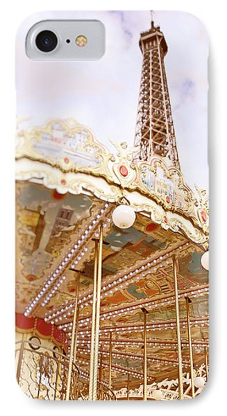 IPhone Case featuring the photograph Eiffel Tower And Carousel by Ivy Ho